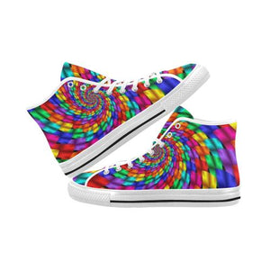 Psycadelic Patterns 1 Vancouver High Top Canvas Men's Shoes (Model1013-1)