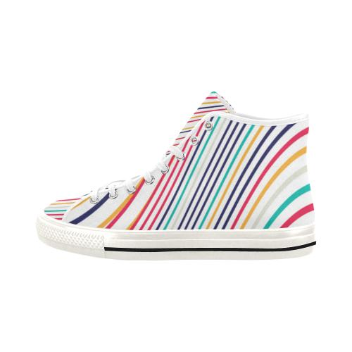 Psycadelic Patterns 10 Vancouver High Top Canvas Women's Shoes (Model1013-1)-Canvas Shoes-JEFAMO