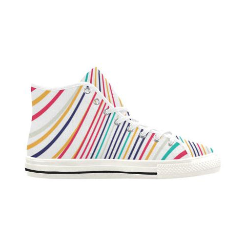 Image of Psycadelic Patterns 10 Vancouver High Top Canvas Women's Shoes (Model1013-1)-Canvas Shoes-JEFAMO