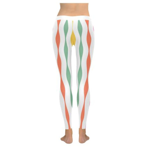 Psycadelic Patterns 11 All-Over Low Rise Leggings (Model L05)-Leggings-JEFAMO