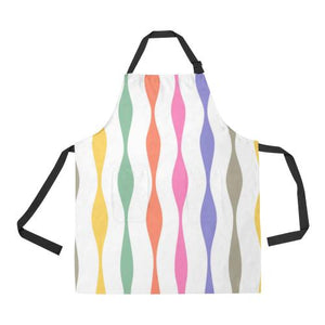 Psycadelic Patterns 11 All Over Print Adjustable Apron-Aprons-JEFAMO