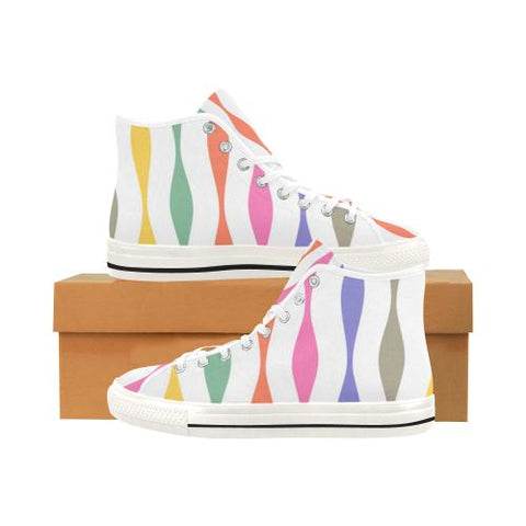 Image of Psycadelic Patterns 11 Vancouver High Top Canvas Women's Shoes (Model1013-1)-Canvas Shoes-JEFAMO