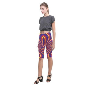 Psycadelic Patterns 2 All-Over Cropped Leggings (Model L03)