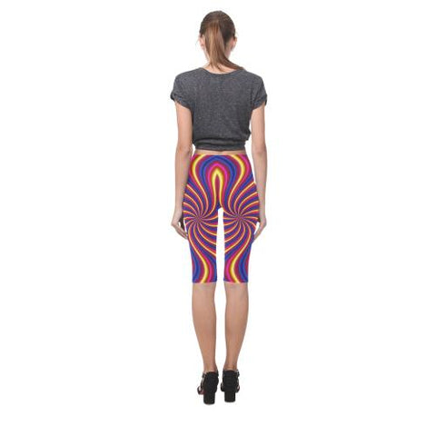 Psycadelic Patterns 2 All-Over Cropped Leggings (Model L03)-Leggings-JEFAMO