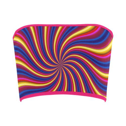 Image of Psycadelic Patterns 2 Bandeau Top-Tank Tops-JEFAMO