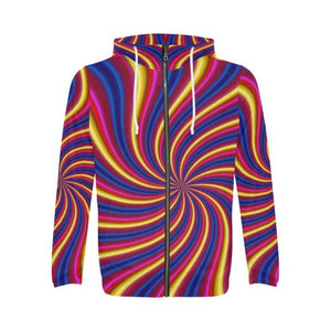Psycadelic Patterns 2 Men's All Over Print Full Zip Hoodie (Model H14)