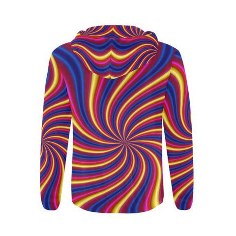 Image of Psycadelic Patterns 2 Men's All Over Print Full Zip Hoodie (Model H14)-All-over Hoodies-JEFAMO