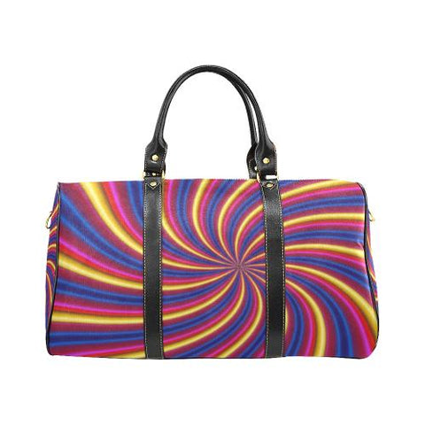 Psycadelic Patterns 2 Travel Bag Black (Small) (Model1639)-Travel Bags-JEFAMO