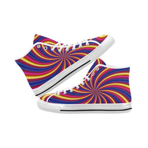 Psycadelic Patterns 2 Vancouver High Top Canvas Men's Shoes (Model1013-1)