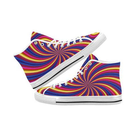 Psycadelic Patterns 2 Vancouver High Top Canvas Men's Shoes (Model1013-1)-Canvas Shoes-JEFAMO