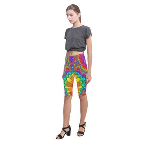 Psycadelic Patterns 3 All-Over Cropped Leggings (Model L03)