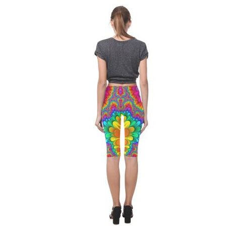 Psycadelic Patterns 3 All-Over Cropped Leggings (Model L03)-Leggings-JEFAMO