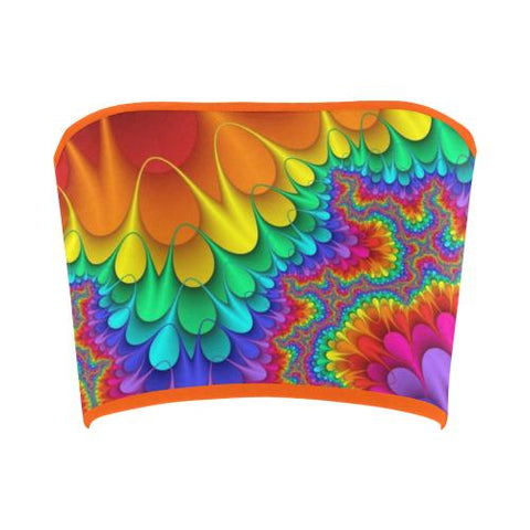 Psycadelic Patterns 3 Bandeau Top-Tank Tops-JEFAMO