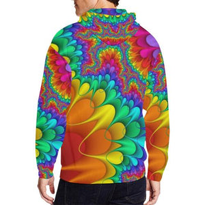 Psycadelic Patterns 3 Men's All Over Print Full Zip Hoodie (Model H14)