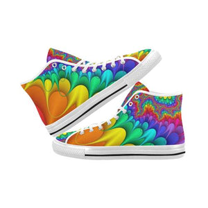 Psycadelic Patterns 3 Vancouver High Top Canvas Men's Shoes (Model1013-1)