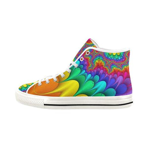 Psycadelic Patterns 3 Vancouver High Top Canvas Women's Shoes (Model1013-1)