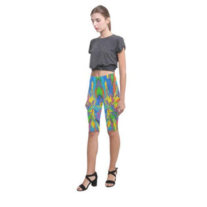 Psycadelic Patterns 4 All-Over Cropped Leggings (Model L03)