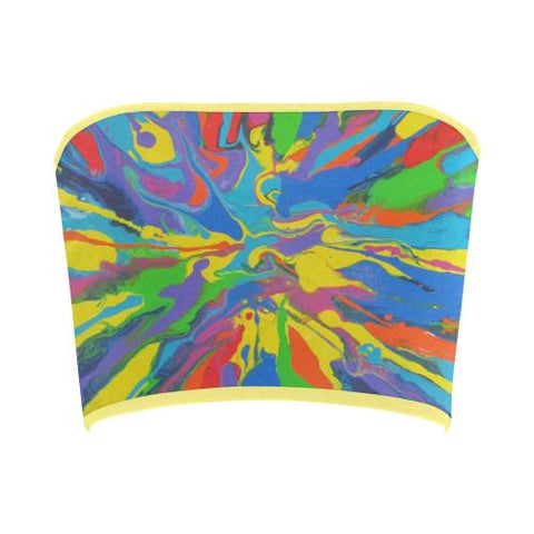 Image of Psycadelic Patterns 4 Bandeau Top-Tank Tops-JEFAMO