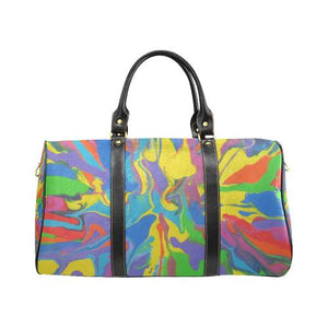 Psycadelic Patterns 4 Travel Bag Black (Small) (Model1639)