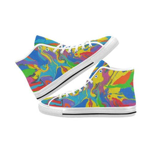 Psycadelic Patterns 4 Vancouver High Top Canvas Men's Shoes (Model1013-1)