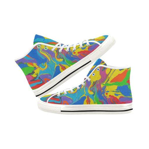 Psycadelic Patterns 4 Vancouver High Top Canvas Women's Shoes (Model1013-1)