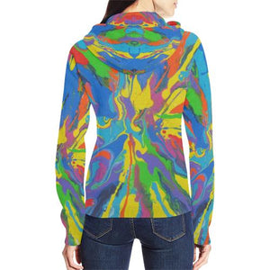 Psycadelic Patterns 4 Women's All Over Print Full Zip Hoodie (Model H14)