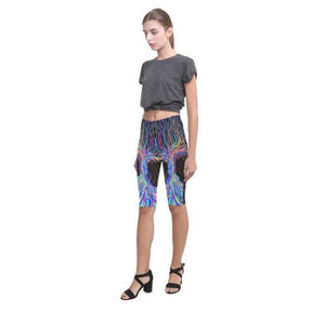 Psycadelic Patterns 5 All-Over Cropped Leggings (Model L03)