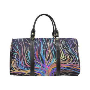 Psycadelic Patterns 5 Travel Bag Black (Small) (Model1639)