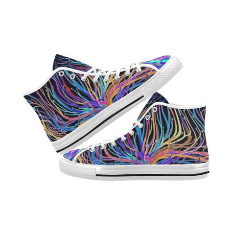 Image of Psycadelic Patterns 5 Vancouver High Top Canvas Men's Shoes (Model1013-1)-Canvas Shoes-JEFAMO