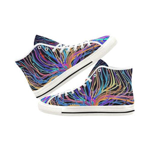 Psycadelic Patterns 5 Vancouver High Top Canvas Women's Shoes (Model1013-1)