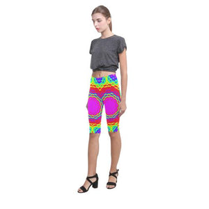 Psycadelic Patterns 6 All-Over Cropped Leggings (Model L03)
