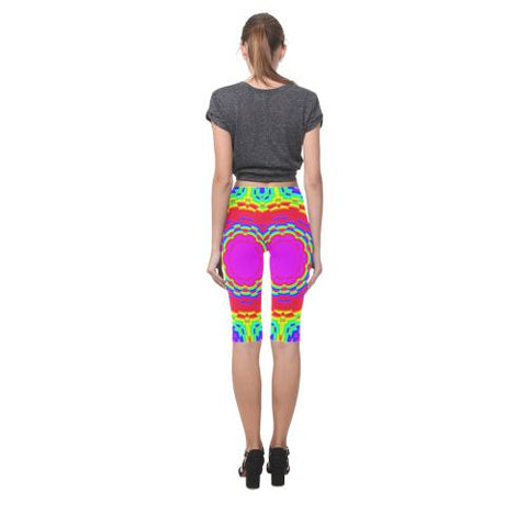 Image of Psycadelic Patterns 6 All-Over Cropped Leggings (Model L03)-Leggings-JEFAMO