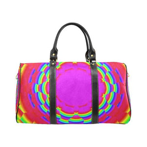Psycadelic Patterns 6 Travel Bag Black (Small) (Model1639)