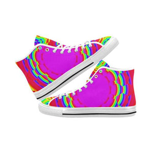Psycadelic Patterns 6 Vancouver High Top Canvas Men's Shoes (Model1013-1)