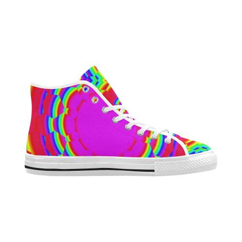 Image of Psycadelic Patterns 6 Vancouver High Top Canvas Men's Shoes (Model1013-1)-Canvas Shoes-JEFAMO