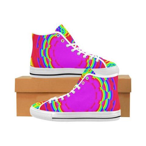 Psycadelic Patterns 6 Vancouver High Top Canvas Men's Shoes (Model1013-1)-Canvas Shoes-JEFAMO