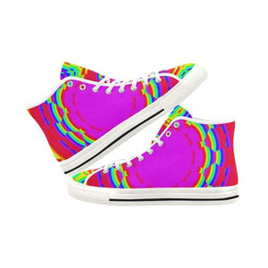 Psycadelic Patterns 6 Vancouver High Top Canvas Women's Shoes (Model1013-1)