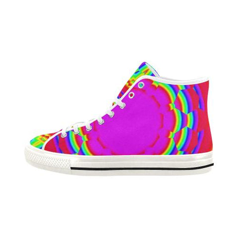 Image of Psycadelic Patterns 6 Vancouver High Top Canvas Women's Shoes (Model1013-1)-Canvas Shoes-JEFAMO