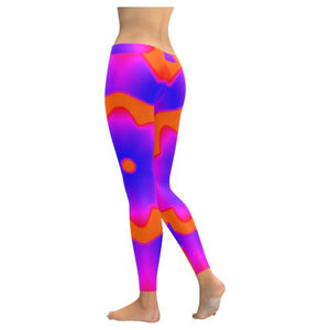Psycadelic Patterns 7 All-Over Low Rise Leggings (Model L05)