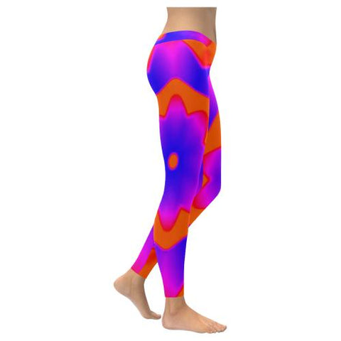 Psycadelic Patterns 7 All-Over Low Rise Leggings (Model L05)-Leggings-JEFAMO