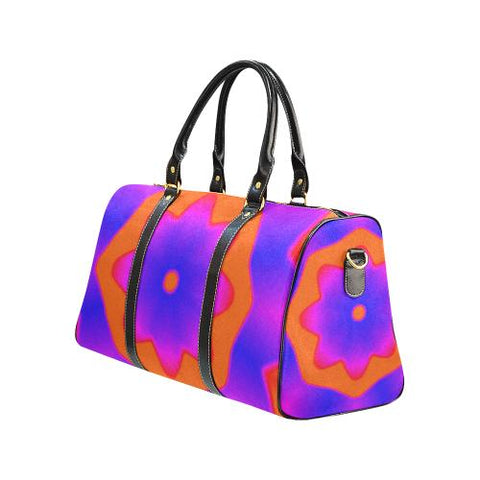 Psycadelic Patterns 7 Travel Bag Black (Small) (Model1639)-Travel Bags-JEFAMO