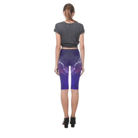 Psycadelic Patterns 8 All-Over Cropped Leggings (Model L03)-Leggings-JEFAMO
