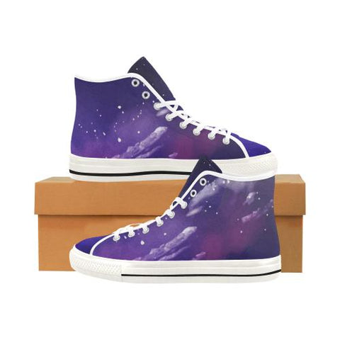 Image of Psycadelic Patterns 8 Vancouver High Top Canvas Women's Shoes (Model1013-1)-Canvas Shoes-JEFAMO