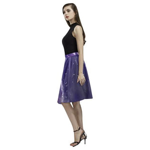 Psycadelic Patterns 8 Women's Pleated Midi Skirt (Model D15)
