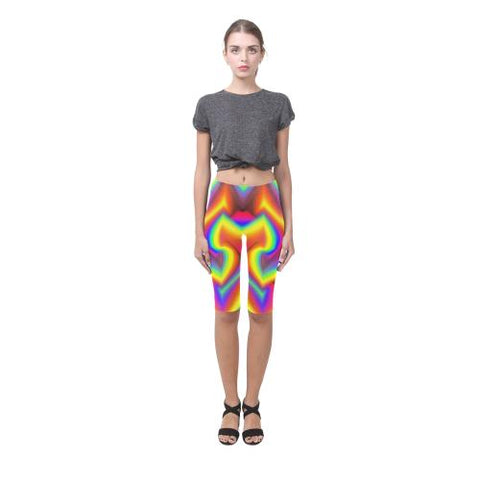 Image of Psycadelic Patterns 9 All-Over Cropped Leggings (Model L03)-Leggings-JEFAMO