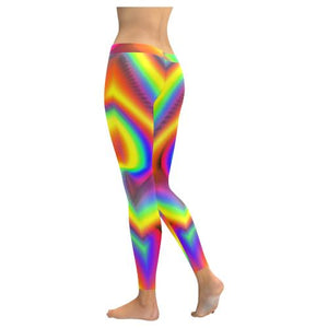 Psycadelic Patterns 9 All-Over Low Rise Leggings (Model L05)