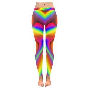 Psycadelic Patterns 9 All-Over Low Rise Leggings (Model L05)-Leggings-JEFAMO