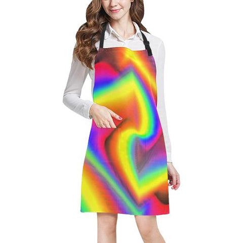Psycadelic Patterns 9 All Over Print Adjustable Apron-Aprons-JEFAMO