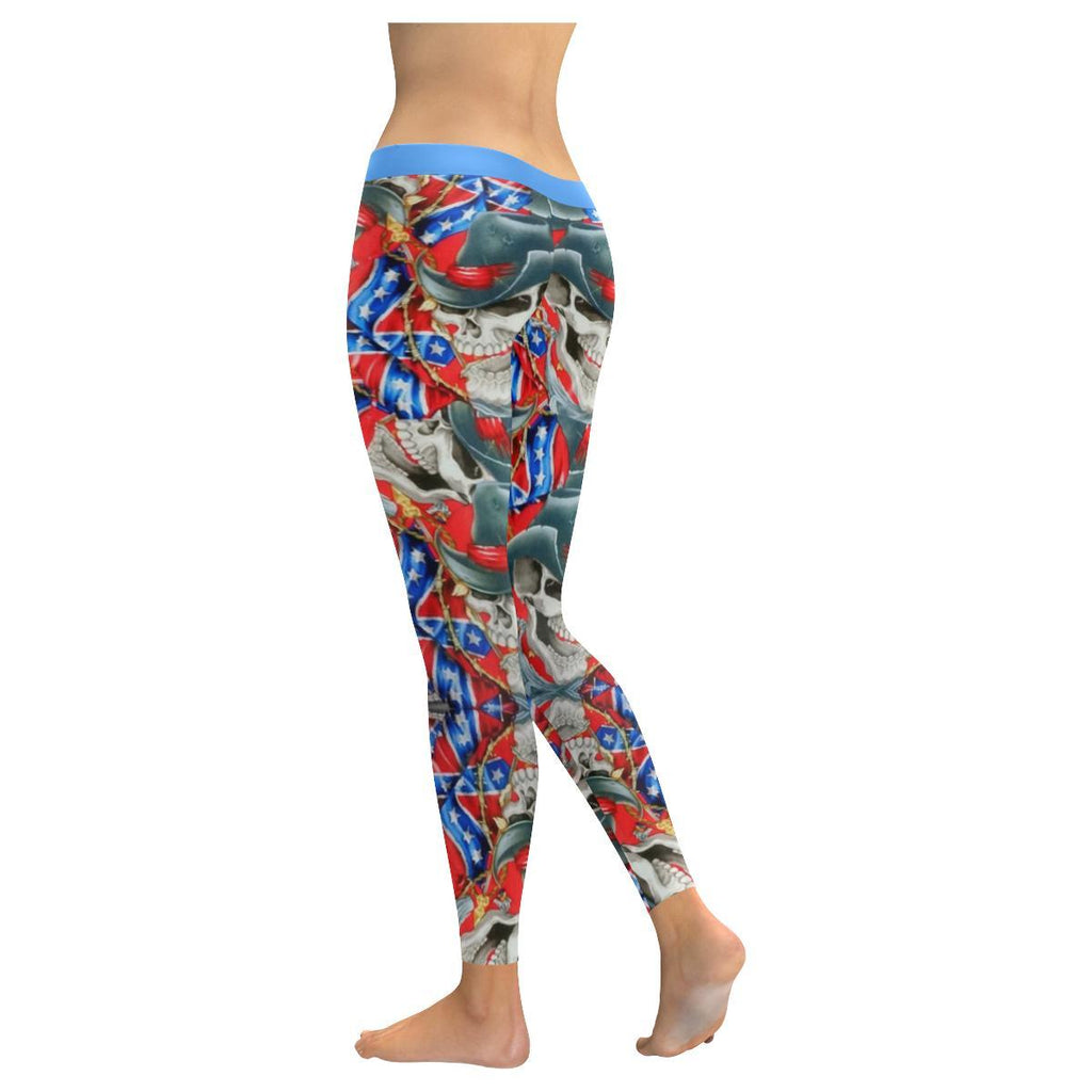 Rebel Cowboy All-Over Low Rise Leggings-Leggings-JEFAMO
