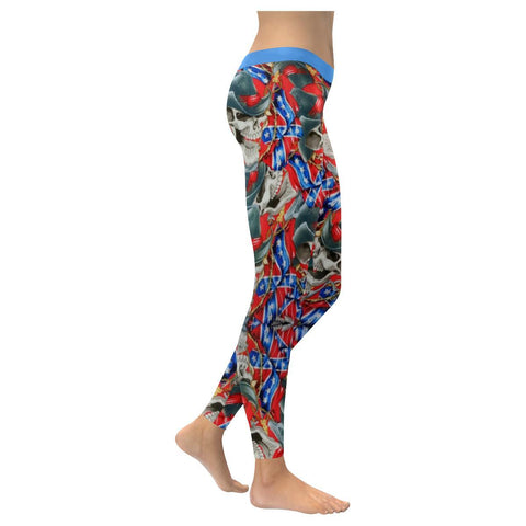 Image of Rebel Cowboy All-Over Low Rise Leggings-Leggings-JEFAMO